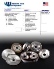 Grinding Cup Wheels for a Variety of Hard Materials